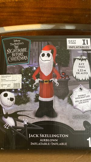Jack nightmare before Christmas inflatable for Sale in Ontario, CA