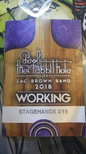 Zac Brown Band Working Pass for Sale in Glendale, AZ