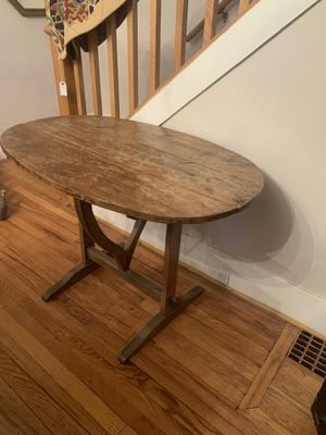 Antique folding wood wall table for Sale in Grosse Pointe Park, MI