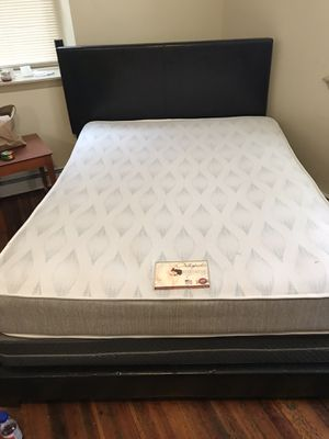 Bed box spring mattress and frame for Sale in Harrisburg, PA