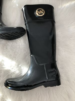 Authentic MK Tall Black Rain Boots for Sale in Ridgefield, CT