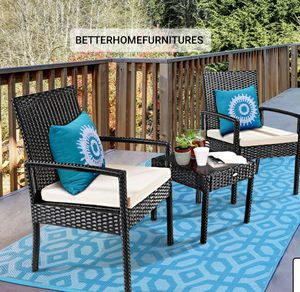 Brand new 3-piece patio furniture/ patio furniture set/outdoor furniture/muebles de patio/outdoor furniture sets. *SAME DAY DELIVERY* for Sale in Fort Lauderdale, FL