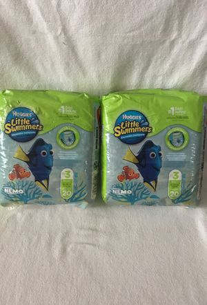 2pk Huggies Little Swim pants, size 3 small, 20 counts for Sale in Flossmoor, IL