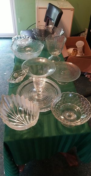 Crystal serving dishes for Sale in Sebring, FL