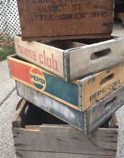 Vintage Antique Wood Crates for Sale in Northville,  MI