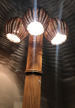 2 Vintage One of A Kind Bamboo Floor Lamps for Sale in Houston, TX