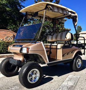 Tan lifted golf cart club car for Sale in Orlando, FL