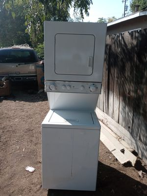GE electric stackable washer and dryer almost new with warranty for Sale in Fresno, CA