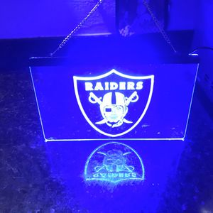 Brand New Raiders Neon lights With Plug &Chain For $80 OBO for Sale in San Jose, CA
