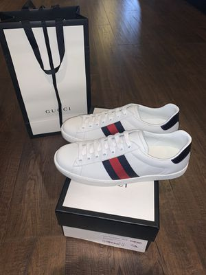 BRAND NEW Men's Gucci Ace White Leather Size US 12 for Sale in Jamul, CA