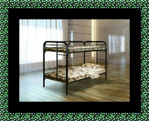 Twin bunk bed frame with mattress for Sale in Takoma Park, MD