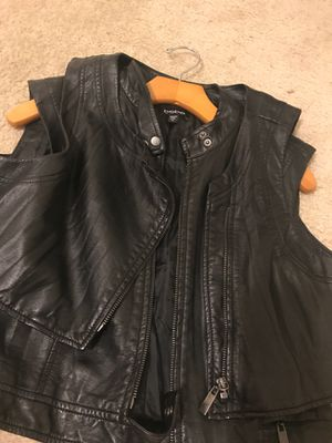 Leather Bebe Two Layer Vest for Sale in Durham, NC