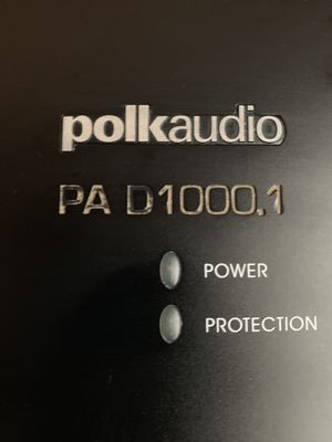 Polk Audio 1200 watts RMS @ 1 ohm for Sale in San Bernardino, CA