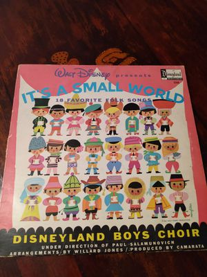 Disney It's a small world LP Vinyl Record for Sale in Riverside, CA