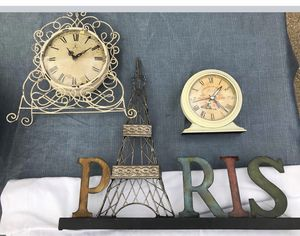 2-VINTAGE BATTERY CLOCKS (works) PARIS DECOR for Sale in Arlington, TX