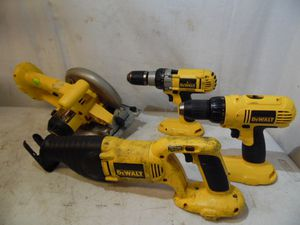 4 Dewalt 18 V Cordless Tools DW938 Circular Saw DW939 Drill Driver DW987 & DC970 for Sale in Darby, PA