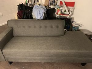 Grey couch for $100 obo for Sale in Portland, OR