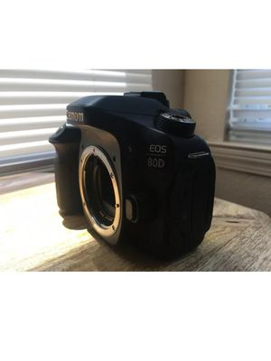 Canon EOS 80D 24.2MP Digital SLR Camera - Black (Body Only). for Sale in Little Rock, AR