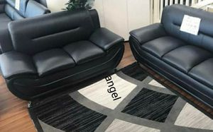 🐞BRAND NEW 🐞Enna Black Sofa & Loveseat | U2701 for Sale in Jessup, MD