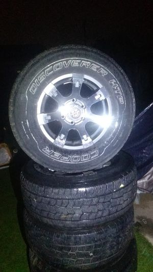 Set of four used tires and wheels. Six lug for Sale in San Diego, CA