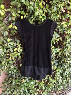 Black shirtsleeve blouse size small for Sale in Riverside, CA