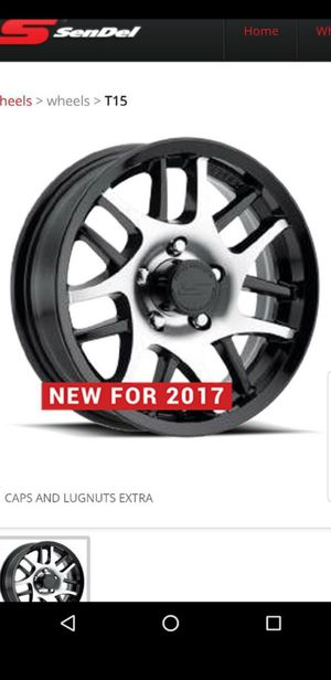 4 New 15 inch trailer wheels/rims/tires Black Machined ST-205-75-15 Load D 8ply 205/75/R15 for Sale in Moreno Valley, CA