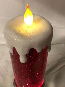 "13"" Illuminated Glitter Pedestal Candle for Sale in Pompano Beach,  FL"