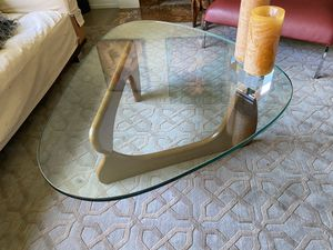 Coffee table, glass top, Herman Miller style for Sale in Southfield, MI