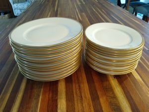 24 Pieces Antique Limoges France China Set - 12 Each Salad and Saucer Pla for Sale in Edgewood, WA