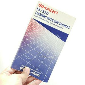 1986 Sharp EL-520 Calculator Manual for Sale in Redmond, WA