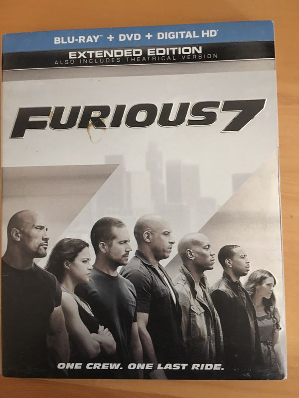 Furious 7 BluRay & DVD