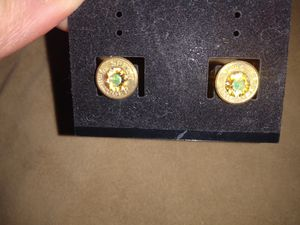 Real diamond and brass earings for Sale in North Las Vegas, NV