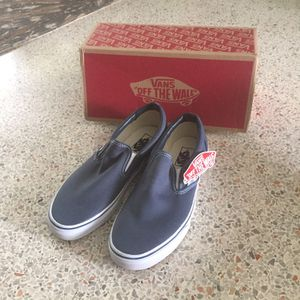 Vans Classic Slip On Blue Canvas Sneakers for Sale in West Palm Beach, FL