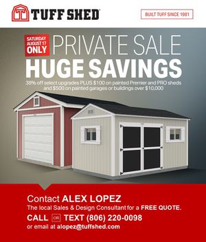 Tuff Shed Sale! for Sale in Amarillo, TX