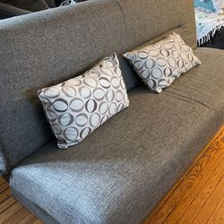 sturdy Futon with storage area- very good condition for Sale in Carlstadt,  NJ