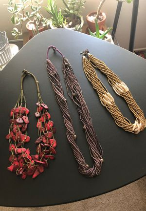 Boho Beaded Necklaces Bundle 3 for $20 for Sale in Upland, CA