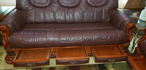 3pc Leather Couch Set for Sale in Hemet, CA