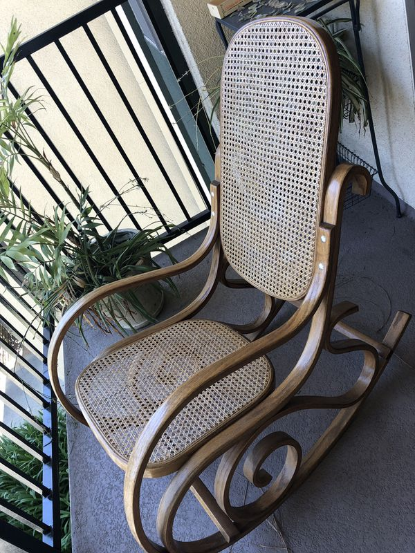 Rattan bentwood rocking chair