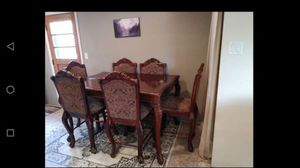 Wood dining table & chairs for Sale in Pittsburgh, PA