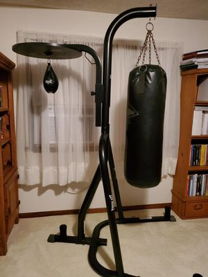 Everlast Punching Bag with Stand and Speed Bag for Sale in Chesapeake, VA