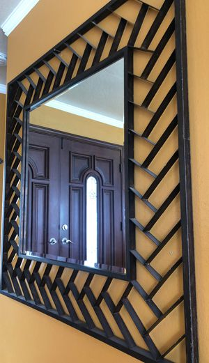 Rustic beveled accent iron wall mirror for Sale in Sunnyvale, CA