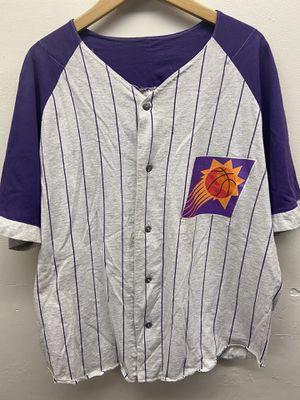 Men's Large 90's ☄️ Suns Logo 7 Pinstripe Baseball Jersey for Sale in Goodyear, AZ