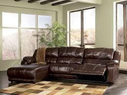 3 Piece Leather Reclining Sectional With Chaise for Sale in Glendale, AZ