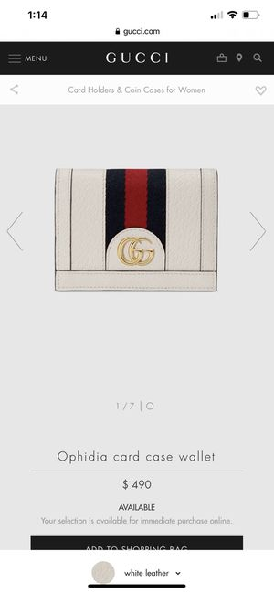 Gucci Ophidia Card Case Wallet for Sale in Las Vegas, NV