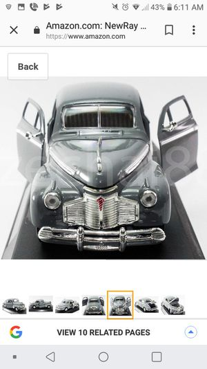 Gray 1941 Chevrolet collectible toy car for Sale in Superior Charter Township, MI