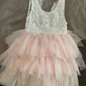 4T Girls Flower Girl Blush Pink And White Dress for Sale in Chino, CA