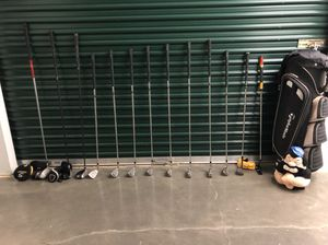 Taylor made golf club bag set with lots of extras for Sale in Union City, NJ
