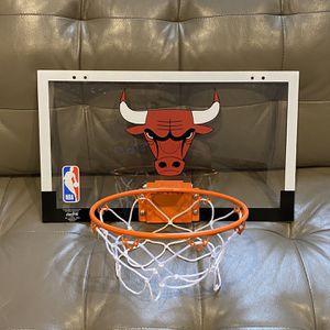 "Chicago Bulls Spalding NBA Over The Door Mini Basketball Hoop 18"" x 10.5"" Wall Mount Jordan Slam Dunk Jam for Sale in Vernon Hills, IL"