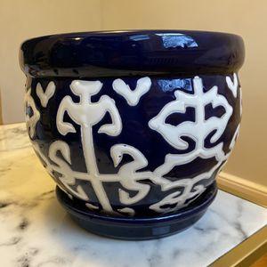 Deep Blue Big Plant Pot for Sale in Arlington, VA