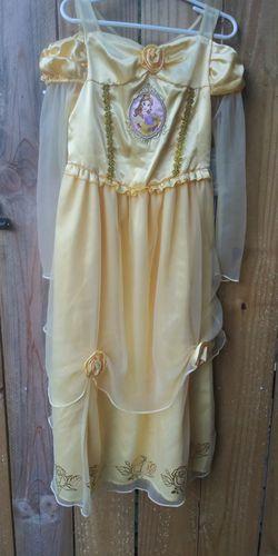 Disney BELLE yellow dress sz 5/6 for Sale in Gaithersburg,  MD
